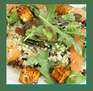 salade tofu chez Charles et Albert Martinique